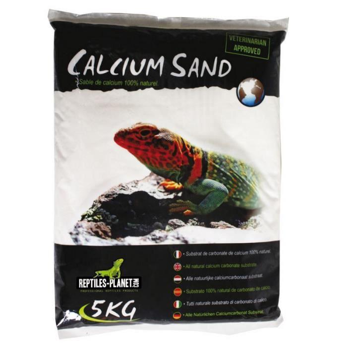 Litière Sable de Calcium pour terrarium Sand Sahara Cream 5kg REPTILES-PLANET