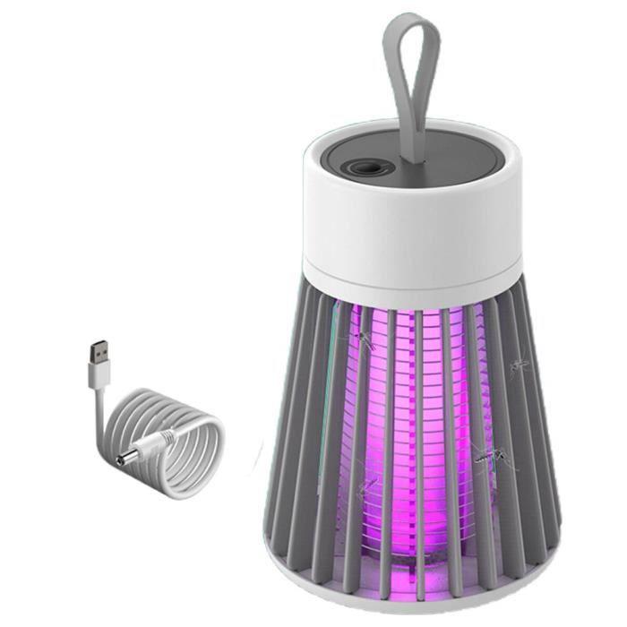 Lampe anti moustique USB Lampes anti insectes Tueur de Moustique à LED Anti nuisible électrique Silencieux Intérieur/Exterieur Porta