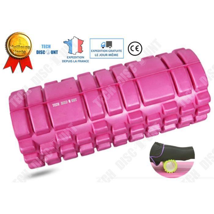 TD® colonne de yoga rouleau de fitness massage musculation gymnastique soulage douleur dos muscles relaxation pilates douleur dure