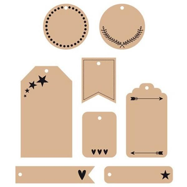 D.I.Y WITH TOGA Set 24 Tags Cadeau Kraft