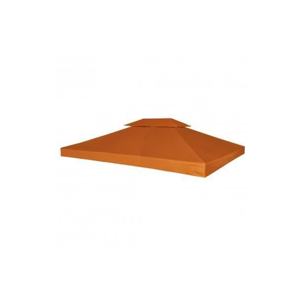 Superbe Toile de Rechange pour Pergola Gazebo Terre cuite 270 g/m²