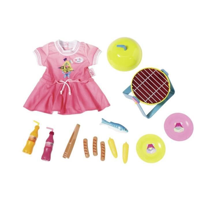 Zapf Creation 824733 BABY born Play & Fun - Jeu amusant Barbecue Set