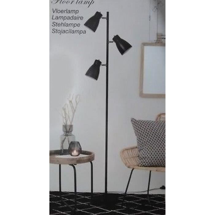 lampadaire sur pieds lampe design industriel spot. Black Bedroom Furniture Sets. Home Design Ideas
