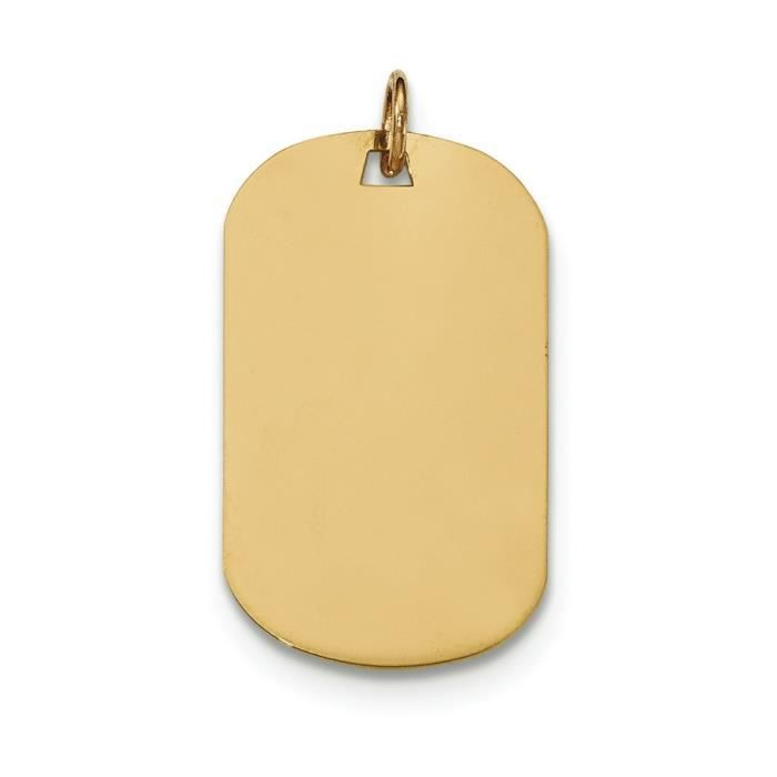 Uni 14 carats .027 jauge Engravable-Dog Tag-disque charme