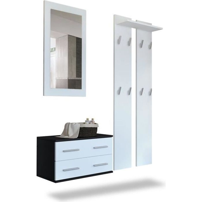 meuble couloir entree achat vente meuble couloir entree pas cher black friday le 24 11. Black Bedroom Furniture Sets. Home Design Ideas