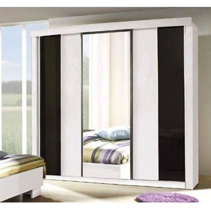 armoire garde robe dublin trois portes coulissantes. Black Bedroom Furniture Sets. Home Design Ideas