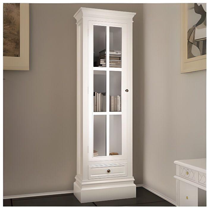 VITRINE - ARGENTIER Armoire vitrine avec un tiroir