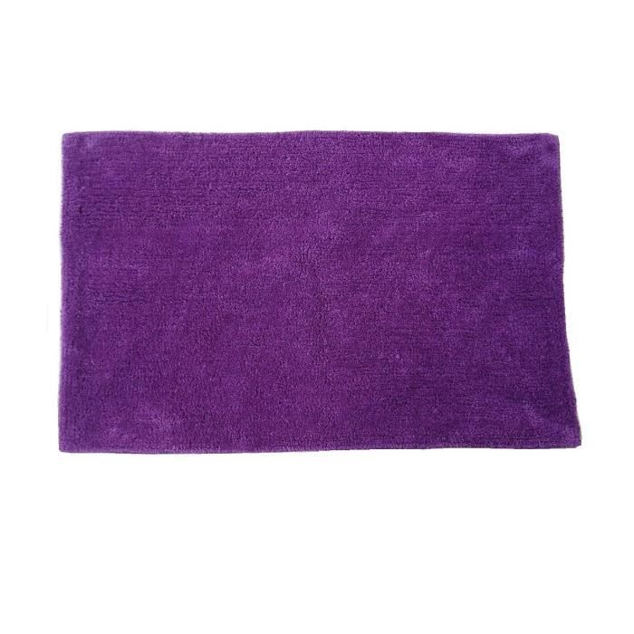 tapis de bains coton violet 45 x 75 cm achat vente tapis de bain cdiscount. Black Bedroom Furniture Sets. Home Design Ideas