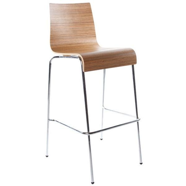 Tabouret chaise de bar trends zebrano achat vente for Achat chaise de bar