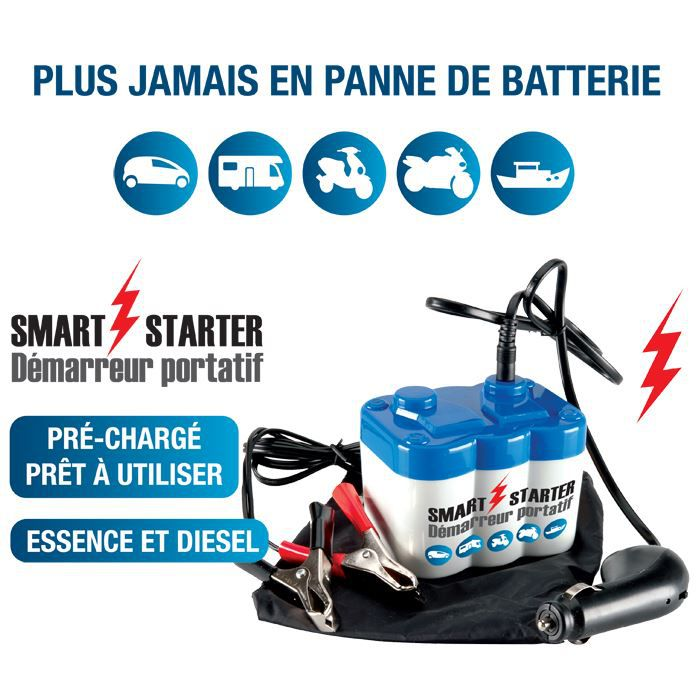 batterie de secours pour voiture smart starter achat vente chargeur de batterie batterie de. Black Bedroom Furniture Sets. Home Design Ideas