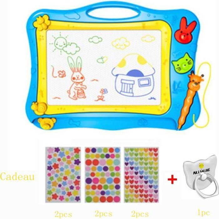 Ardoise Magique Enfant, Tableau De Dessin Magnétique Coloré à 4 Couleurs  Grand Format lanche à Dessin Effaçable Aimant pour Bébés