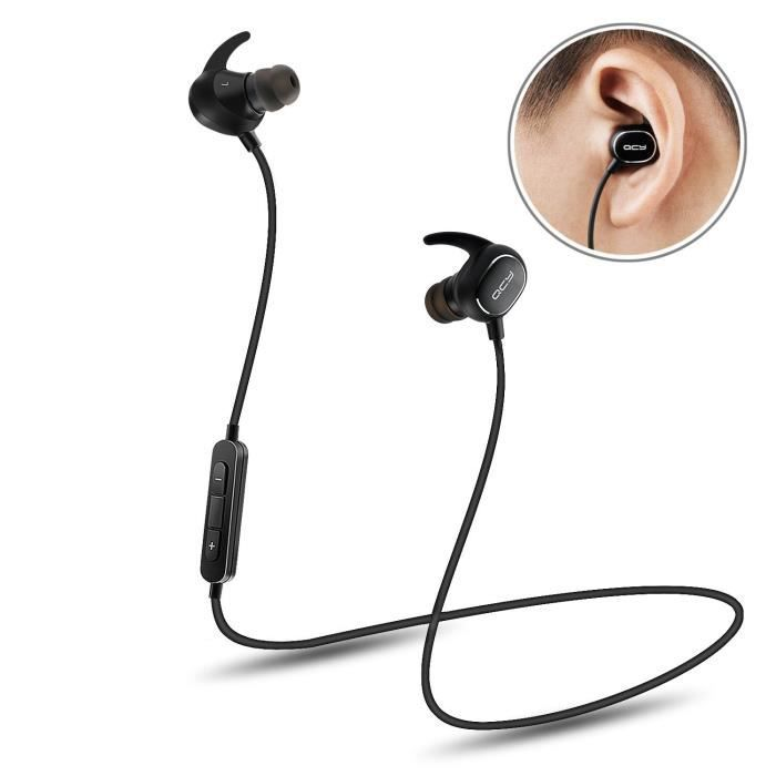 ecouteur bluetooth qcy qy 19 casque sans fil intra auriculaire sport ultra lightweight. Black Bedroom Furniture Sets. Home Design Ideas