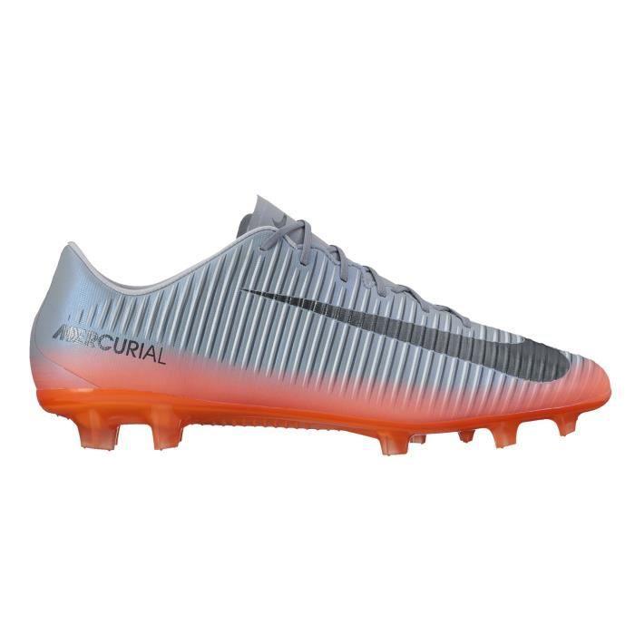 Chaussures football Nike Mercurial Veloce III CR7 FG Gris/Orange ...
