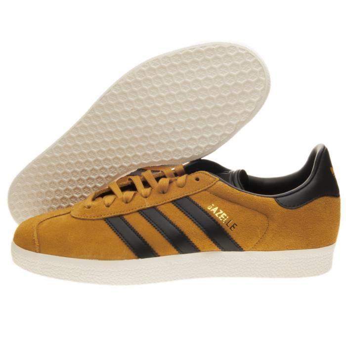 adidas gazelle jaune marron