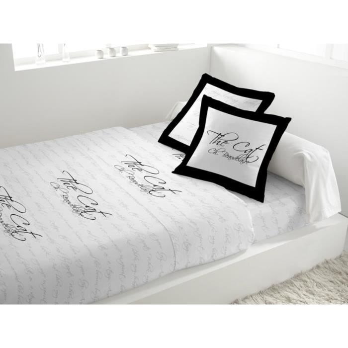 parure de drap en coton 2 personnes poeme blanc achat. Black Bedroom Furniture Sets. Home Design Ideas