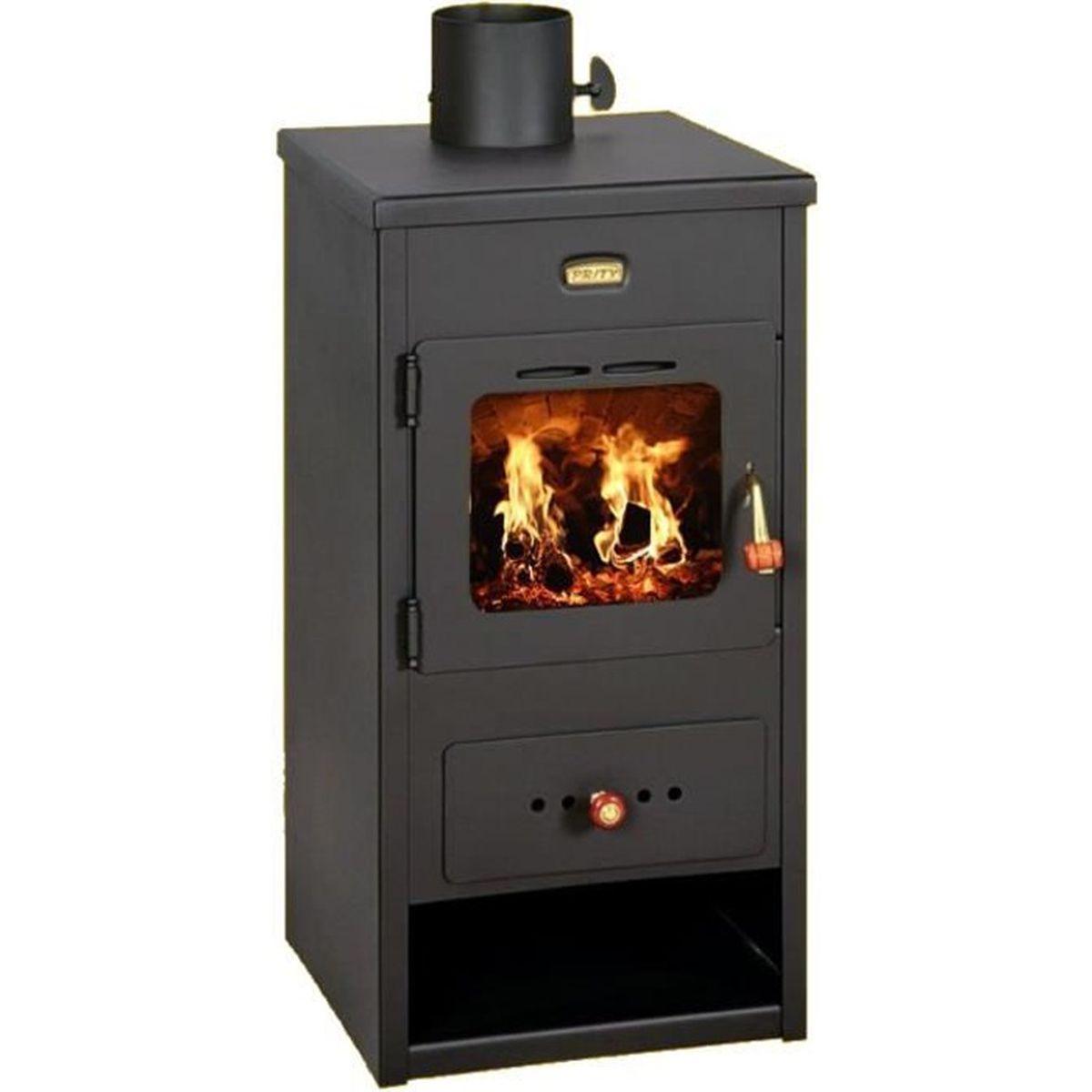 Changer Sa Cheminée Pour Poele Bois poêle à bois cheminée brûleur foyer multi carburant 8kw prity k1 optima