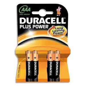 PILES Duracell - 12 piles AAA LR3 ouverture D-click
