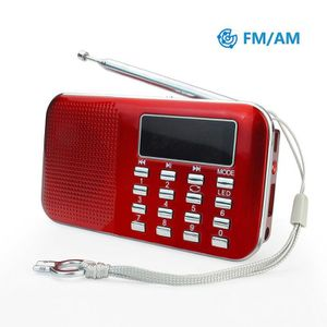 RADIO CD CASSETTE Prunus L-218AM-Red Radio FM Rouge,Haut-Parleur Lec