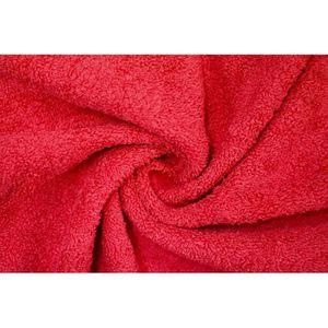 TISSU Tissu Éponge Bulky Rouge -Au Mètre