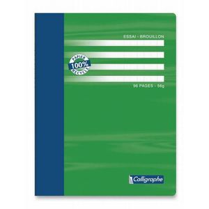 7000 Cahier Pique Brouillon 17x22 48p Seyes 56g 100/% Recycle