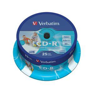 CD - DVD VIERGE Verbatim Vb-crd19s2PA–CD-RW Vierge (CD-R, 700M