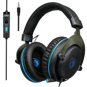 CASQUE AVEC MICROPHONE Casque de Jeu Over-Ear Gaming Casque avec Micro Xb
