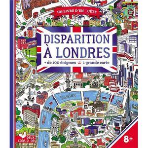 DOCUMENTAIRE ENFANT Livre - disparition à Londres ; livre avec carte