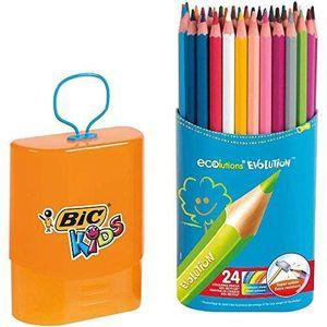 CRAYON DE COULEUR BIC Crayons de couleur Kids Evolution durable - Et
