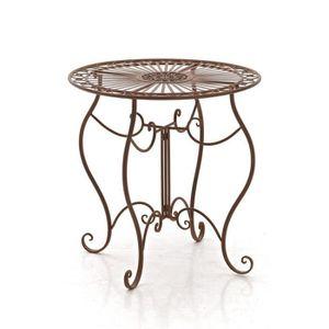 TABLE DE JARDIN  CLP Table de jardin ronde en fer forgé INDRA, fait