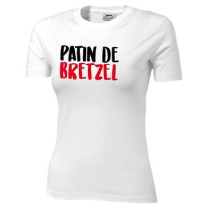 Femmes Manches Courtes Fille T-shirt brezl Bretzel boulanger boulangerie pâtisserie