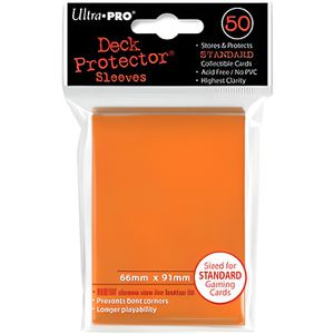 CARTE A COLLECTIONNER Ultra Pro 50 pochettes Deck Protector Solid Orange