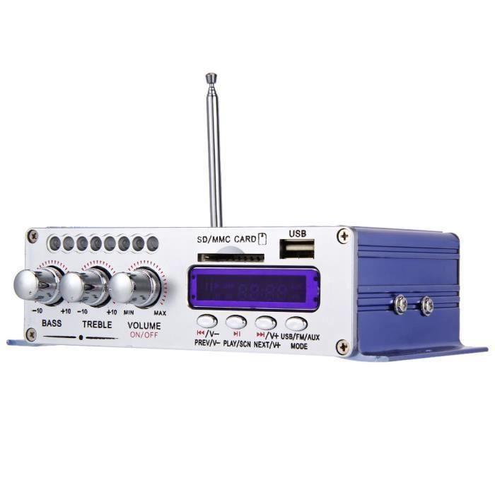 USB FM Audio Voiture Stéréo Amplificateur Radio MP3 Haut-Parleur LED Hi-Fi 2 Manche Affichage Numérique Puissance Lecteur Support CD