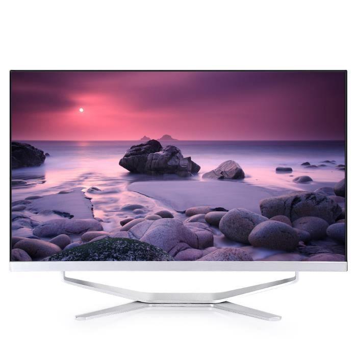 Lanran PC Tout-en-un 23.6'' i7‑3630QM Surface Incurvée au Bureau Type D Blanc