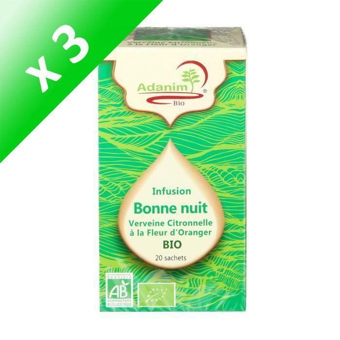 [LOT DE 3] MOULIN DES MOINES Infusion de verveine citronnelle Fleur d'oranger bio - 30 g
