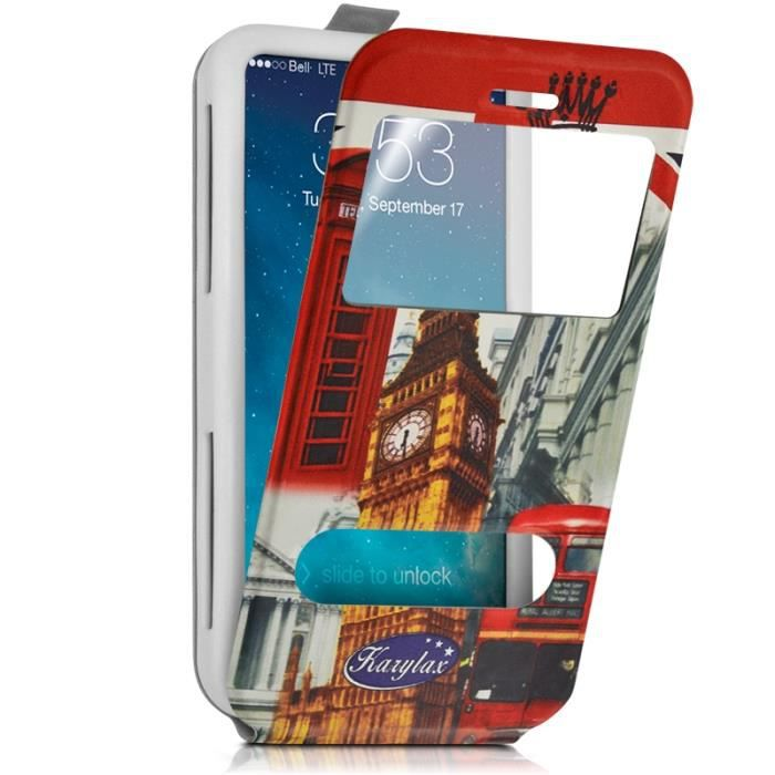Etui Coque Silicone S-View Motif ZA03 Universel XL pour Danew Konnect 555