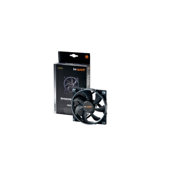 Be Quiet Ventilateur de boîtier SHADOW WINGS - 120mm - High-Speed