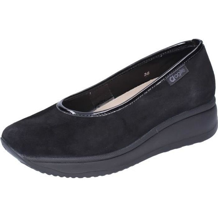 AGILE by RUCOLINE Chaussures Femme Ballerine Noir BJ725