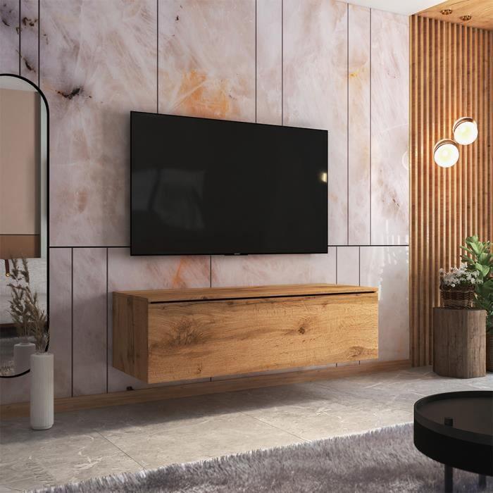Meuble TV - SKYLARA - 140 cm - chêne wotan - style moderne