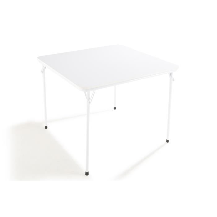 EASY Table carrée pliante Laqué Blanc