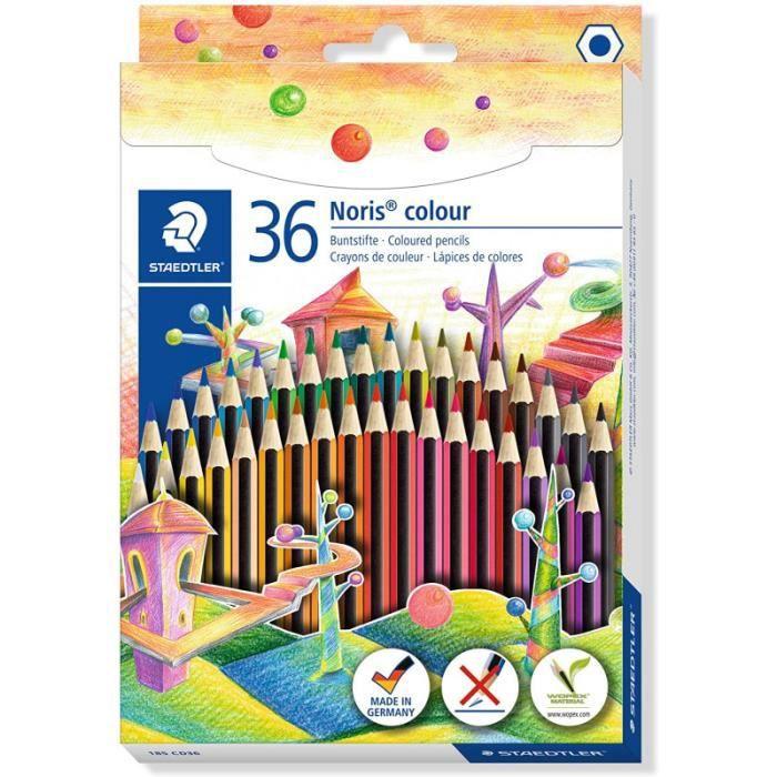 Boîte de 36 crayons de couleur assortis - Noris Colours - Staedtler