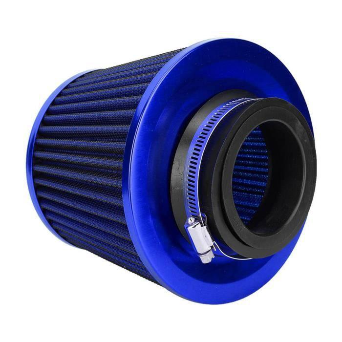 VBESTLIFE filtre à air de voiture Kit de filtre à air universel de tête de champignon de diamètre d'air à haut débit de fer de