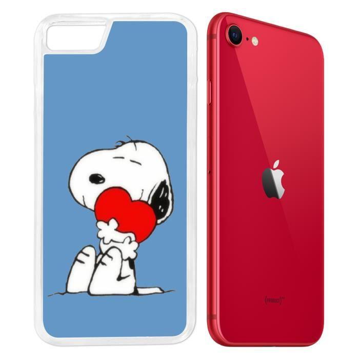Coque iPhone SE 2020 - Snoopy Coeur