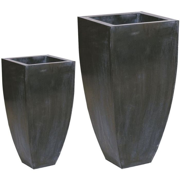 vase en zinc noir s rie de 2 gva113s achat vente. Black Bedroom Furniture Sets. Home Design Ideas