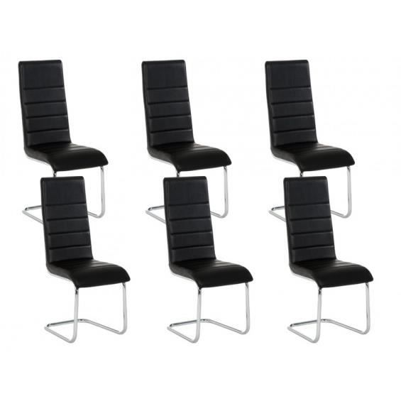 lot 6 chaises noires maison design. Black Bedroom Furniture Sets. Home Design Ideas