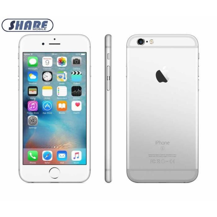 748d2cc9556bc APPLE IPhone 6s 32Go Argent Smartphone Débloqué Reconditionné-(Share mobile)