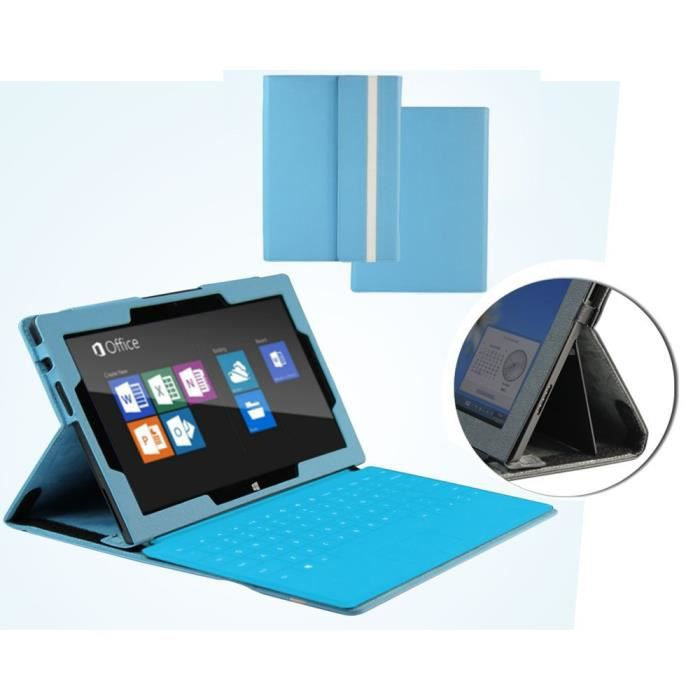 navitech housse pour microsoft surface pro bleu prix pas cher cdiscount. Black Bedroom Furniture Sets. Home Design Ideas