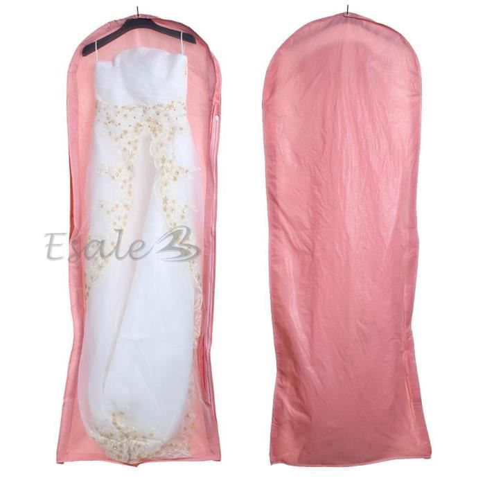 150cm housse sac rose protection pour v tement costume robe mariage achat vente housse de. Black Bedroom Furniture Sets. Home Design Ideas