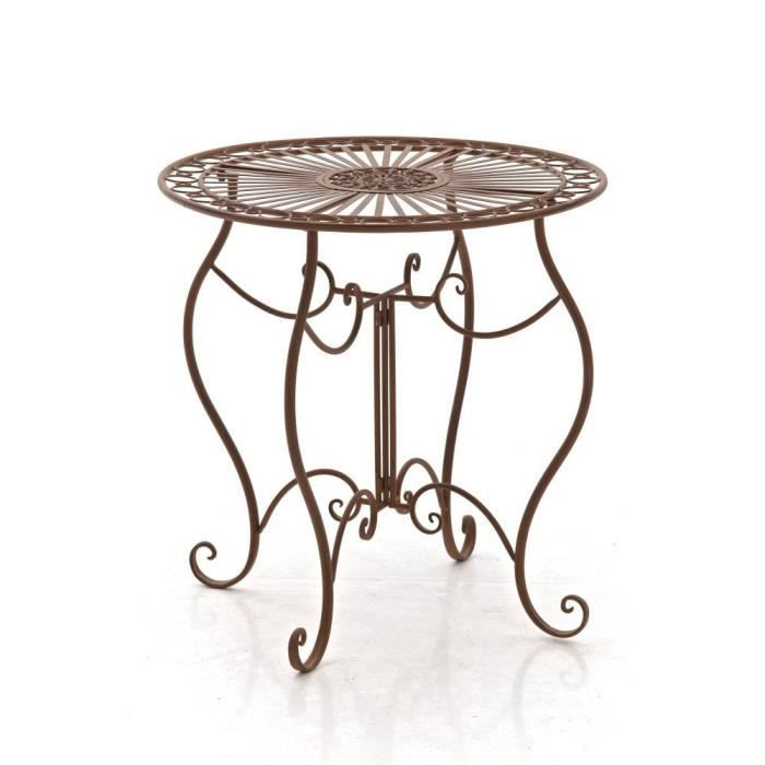 Table ronde 70 cm achat vente table ronde 70 cm pas for Table de jardin ronde en fer