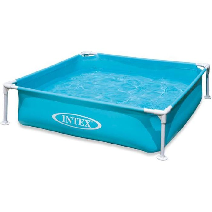 Piscine tubulaire carr e intex x 1 22 x 0 30 m bleu for Piscine tubulaire 1 22