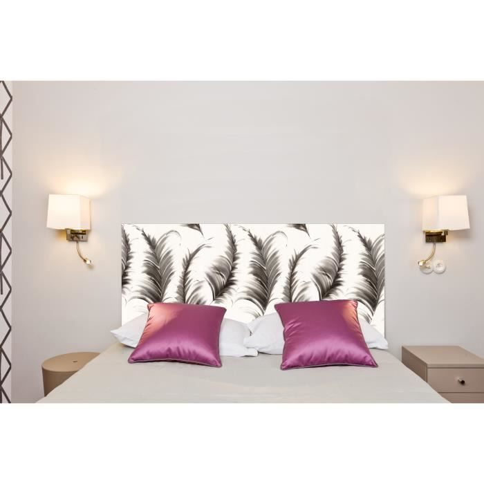 t te de lit plumes 160 70 cm achat vente t te de lit cdiscount. Black Bedroom Furniture Sets. Home Design Ideas